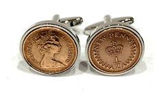40th Birthday 1980 half pence cufflinks - 40 year old