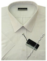 New Mens Short Sleeve Poly Cotton Plain Shirt M - XXL By Tom Hagan