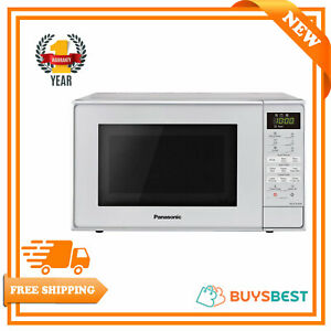 Panasonic Microwave Oven With Grill And Turntable 20 L - Silver - NN-K18JMMBPQ