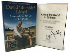 Signed Book - Around the World in 80 Pints by David 'Bumble' Lloyd First Edition