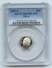 2007 S 10C Silver Roosevelt Dime PCGS PR69DCAM