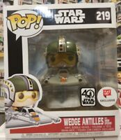 Funko Pop! Wedge Antilles w/Snow Speeder # 219 - Exclusive Strar Wars 40th