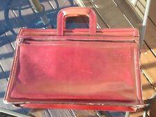 Vintage Leather Briefcase Portfolio Made in Korea