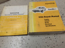 1986 TOYOTA COROLLA FF Service Repair Shop Workshop Manual OEM Set W ETM Worn