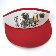 Vintage 80s Novelty Visor Sun Hat Budweiser Beer Minolta Camera Puzzle Young An