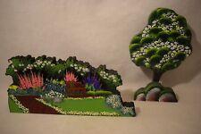 Shelia'S Garden Bench And Tree 2 Shelf Sitters Ltd Ed. #740 Signed Nib (f718)