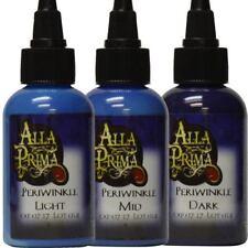 Periwinkle Set - 3 Bottles of Tattoo Ink by Alla Prima - 1oz Bottles