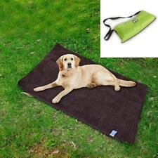 Waterproof Foldable Pet Dog Fleece Blanket Travel Mat Pad Cover Bed Green