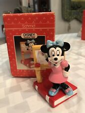 Schmid Disney Character Minnie On A Book Figurine