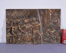 "*17"" Antique Bronze Sculpture/Plaque/Wall Hanging with WW1 Imagery 2"