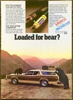 1980 Monroe Max-Air Shock Absorbers PRINT AD Loaded for Bear?
