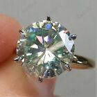 3 CT Round Cut Diamond 14k Yellow Gold Finish Six Claw Solitaire Engagement Ring
