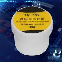 40g Thermal Conductive Grease Paste Silicone Compound for CPU GPU Heatsink White