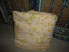 """VINTAGE MORGAN JONES FRESH DAISIES YELLOW GREEN FLORAL (1) FULL FITTED SHEET 7"""""""