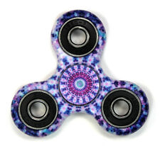 Purple Tribal - Tri FIDGET Spinner Smooth Balance Ceramic Hand SPINNER Desk Toy