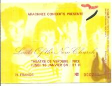 RARE / TICKET CONCERT - THE LORDS OF THE NEW CHURCH : LIVE NICE ( FRANCE ) 1984