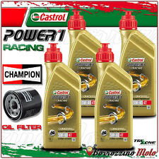 TAGLIANDO OLIO CASTROL POWER 1 RACING 5w40 + FILTO CHAMPION KAWASAKI Z750 2005
