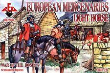 Red Box 1/72 72054 European Mercenaries Light Horse (Set 9, War of The Roses)