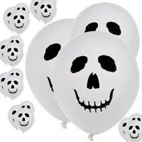 100 x Halloween Ghost Face Skull Latex White Balloons Party Holiday Decoration