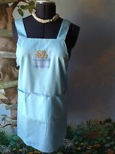 La Pomme Light Blue 3 Pockets Tide Back Kitchen Apron