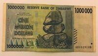 USED ZIMBABWE 1 MILLION DOLLARS NOTE. CIRCULATED.