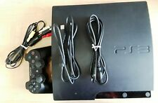 SONY PLAYSTATION 3 PS3 160GB SLIM 1 CONTROLLER + CHARGER + CORDS USED CECH-3001A