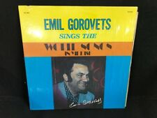 RARE EMIL GOROVETS Sings the World Songs in Yiddish LP 1003 in shrink EX+