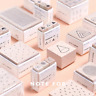 Creative Wooden Stamp Geometric Clear Stamps Wave DIY Bullet Journal for Scrapbo