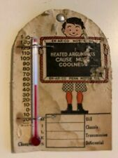 Rare Vintage NOS EN-AR-CO Motor Oil Paperboard Advertising Thermometer Pin Early