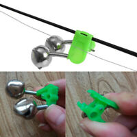 10Pcs Night Fishing Twin Rod Clamp Bell Ring Bite Alarm Tackle Accessories