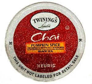*DAMAGED BOX* Twinings Chai Pumpkin Spice Keurig Black Tea 24 Count K-Cups