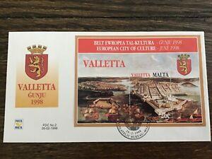 1998 MALTA Jumbo FDC - Valletta Malta June European City of Culture