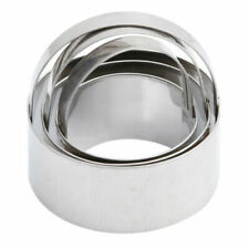 3Pcs Stainless Steel Round Cookie Cutter Circle Biscuit Pastry Mold Baking Tool