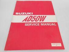 Genuine Vintage Suzuki AD50 AD 50 Service Manual 99500-10323-01E