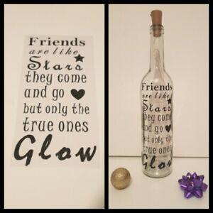 Friends Are Like Stars Quotes Vinyl Decal Sticker Frame Bottle Diy Gift bestie