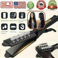 Steam Hair Straightener Ceramic Tourmaline Ionic Flat Iron Professional Glider