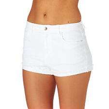 Exhighstreet size 8 - 20 New stretch denim shorts hotpant Coral Lilac White LICK