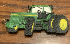Vintage John Deere 8300 Tractor Rubber Advertising Key Chain Collectible Duals
