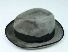 chapeau gris BORSALINO t. 55 grey fur hat  6 7/8 us 6 3/4 uk