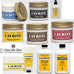 Layrite Original, Superhold, Supershine, Cement, Natural Matte Cream Hair Pomade