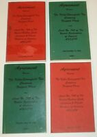 Vintage Lot 4 Kelly Springfield Tires Union Agreement Books Local 745