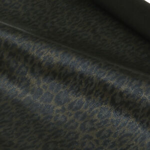 Ziegenleder Fantasy Leopard Design 0,9 mm Dick Velour Haut Leather N159-8-9
