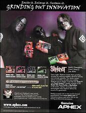 Slipknot Mick Thomson Paul Gray Jim Root Apex guitar effects pedals ad print