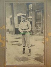 Baseball Photo CHARLES FLICK Minor League INDIANAPOLIS INDIANS Cabinet Card