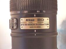 nikon ED AF-S  VR nikkor 70 -200mm 1:2.8G