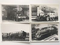 Vintage Steam Train Photos postcard Bundle-Steam Train Vintage Photos - - (3)