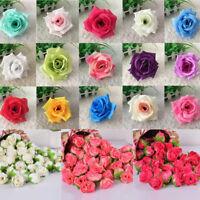 10/50/100Pcs Artificial Fake Rose Silk Flower Wedding Party Bouquet DIY Decor