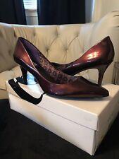 Nine West Shiny Red Heels Size 10