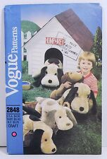 Vogue Pattern 2848 Stuffed Dog Plush with Floppy Ears In Three Sizes UNCUT