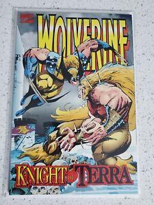 WOLVERINE Knight of Terra Graphic Novel 1995 MARVEL COMIC Sabertooth, Wolfsbane